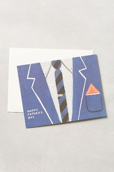 Suit & Tie Father's Day Card - anthropologie.com
