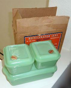 Fire King Jadite Refrigerator boxes - Cuz I've got this $400 bucks just lying around...