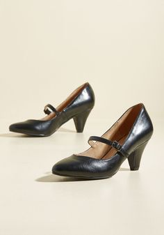 Reserved for Rollicking Heel in Ebony. As for your new favorite pumps, well, they do best on the dance floor! #black #modcloth