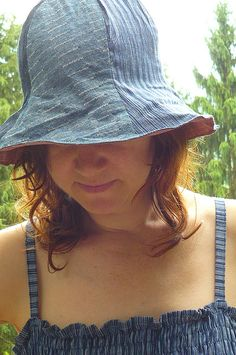 Items similar to sun hat for women, reversible tulip shape, custom made to order on Etsy Hat Patterns To Sew, Sewing Patterns Free, Free Sewing, Sewing Ideas, Sun Hats For Women, Wearing A Hat, Leftover Fabric, News Boy Hat, Star Designs
