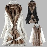 Gender:Women Outerwear Type:Down & Parkas Clothing Length:Long Filling:Cotton Closure Type:Zipper Ho
