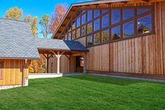 Knotty western red cedar siding on a riding arena.  Northvale, NJ.  This place is amazing - watch the video https://www.youtube.com/watch?v=QkmGNny3ttg