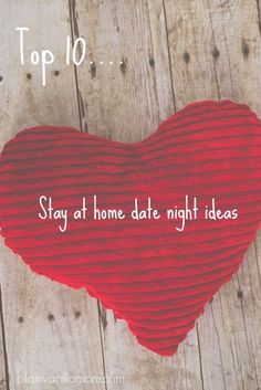10 easy and fun stay at home date night ideas // I only like a couple of these but good thoughts