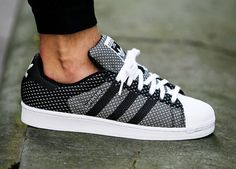 Adidas Superstar 'Weave Pack' - Black/White (by... – Sweetsoles – Sneakers, kicks and trainers. On feet.