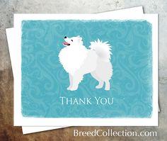 American Eskimo Dog Greeting Card Collection Set 3 by TriPodDog