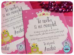 Invitaciones: motivo princesas.