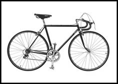 Print with a black and white photo of a bicycle that looks great with both vintage and modern interior design. www.desenio.com