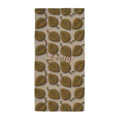 Chic Gold Glam Beach Towel #gold #leaf