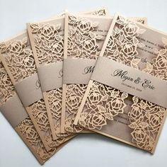 Must see Laser Cut Wedding Invitations. Offering many different Laser Cut designs to choose from! Visit us today to get started on your custom laser cut wedding invites. Cricut Wedding Invitations, Elegant Wedding Invitations, Laser Cut Invitation, Invitation Wording, Invite, Wedding Card Design, Wedding Cards, Wedding Events, Wedding Ideas