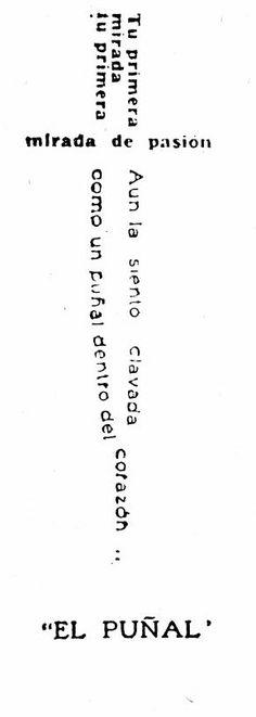 """""""El puñal"""" (1916) de José Juan Tablada."""