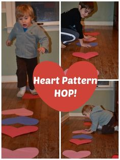 Pattern Heart Hop - move and learn with this Valentine's Day themed game!