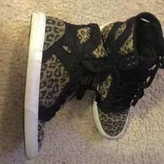fe6556a425e9 Leopard Supra Hightop. Stylish and Comfy. Supra Shoes Sneakers Supra Shoes