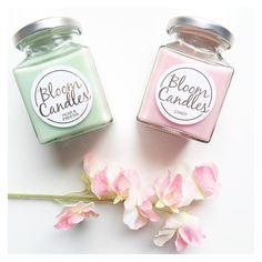 2 of our favourite candles from Bloom candles on the packing table today  candy and pear & freesia  shop all candles at pennyrosehomegifts.co.uk