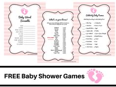 FREE PRINTABLE BABY SHOWER GAMES Baby Word Scramble Baby Celebrity Whats In Your Purse Pink Angel