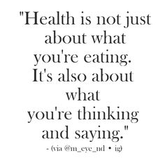 Health is not just about what you're eating; it's about what you're thinking too. Learn more: BasilHealth at www.basilhealth.com