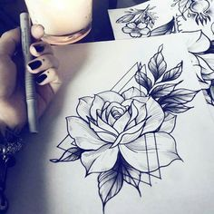 Rose inside triangle