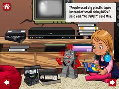 Messy Mia & The Tale of Ancient Tech is a Great way for your kids to learn about Old /Ancient technology! You as a parent can share stories of Old technology with your kids like cassette players, Dial Up Internet, Walkmans, VCRs...   Messy Mia is a story of a young girl learning how per parents grew up and survived without today's modern technology such as Laptops, Tablets, Broadband & Cell Phones!  74MB