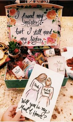 This Ethel has finally found her Fred, so Lucy grab Ricky an Brides Maid Proposal, Bridesmaid Proposal Gifts, Wedding Gifts For Bridesmaids, Bridesmaids And Groomsmen, Gifts For Wedding Party, Wedding Wishes, Our Wedding, Dream Wedding, Bridesmaid Gift Boxes
