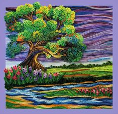 Beautiful, very detailed quilled landscape - pity the artists name is not recorded by whoever saved it to pinterest! - GK