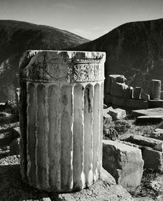 © Herbert List/Magnum Photos GREECE. Peloponnese. Delphi. Ionic column drum. 1937.