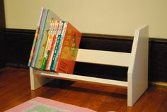 This wooden bookcase is the perfect size for one of your favorite little people. It can hold 30 or more childrens books depending on size and is Woodworking For Kids, Woodworking Projects, Andys Room, Childrens Bookcase, Wood Projects For Kids, Wooden Bookcase, Toy Rooms, Decorating Your Home, Home
