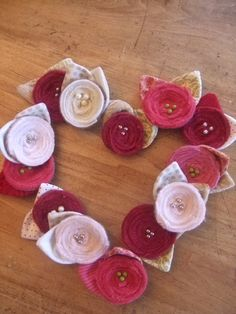 scrap wool pins for Valentine's Day by monarch post, via Flickr