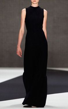 Classic black evening gown.