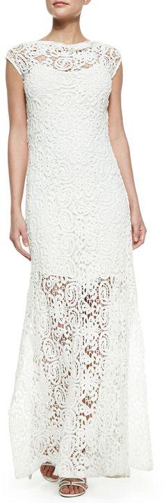 Miguelina Lilac Crochet Maxi Dress on shopstyle.com