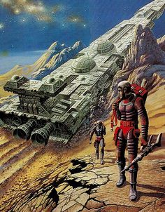 """Dedicated to all things """"geek retro:"""" the science fiction/fantasy/horror fandom of the past including pin up art, novel covers, pulp magazines, and comics. Perry Rhodan, Arte Sci Fi, Sci Fi City, Posters Vintage, 70s Sci Fi Art, New Retro Wave, Arte Robot, Spaceship Art, Classic Sci Fi"""