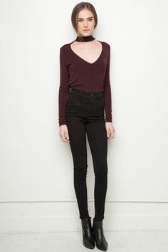 Brandy ♥ Melville | Cammy Neck-Tie Top - Tops - Clothing