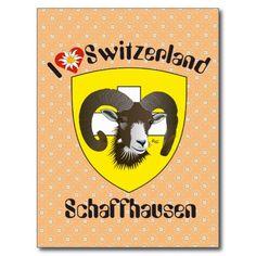 Schaffhausen Schweiz Postkarte