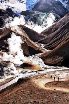 Landmannalaugar Mountains, Iceland. Landmannalaugar's colourful rhyolite mountains have become one of Iceland's icons. Great place for hiking, thermal baths and fantastic photo ops.