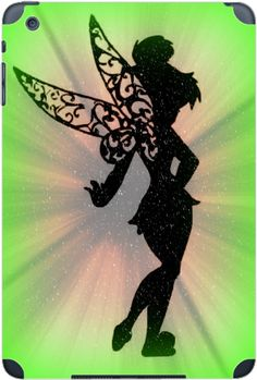Cute Fairy Silhouette Design Print Image iPad Mini (1st & 2nd Gen) Vinyl Decal Sticker Skin by Trendy Accessories available at https://www.amazon.com/dp/B01LZMCM97 #vinyldecals #decals #apple #appleipad #appledecals #ipaddecals #ipadmini #applemini #disney #tinkerbell #tadesigns