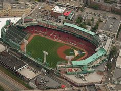 Spring is coming, and with Spring comes Baseball! This image is a wonderful aerial view of world famous Fenway Park, home of the 2013 World Champion Boston Red Sox! Baseball Park, Sports Baseball, Baseball Field, Baseball Photos, Football, Dodgers, Mlb Stadiums, Baseball Classic, Fenway Park