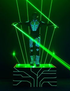Laserman to light up ElecTRONica for TRON LEGACY party at DCA