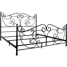 Showcasing a scrolling frame in a dark bronze finish, this elegant bed makes a classic addition to your master suite or guest room.