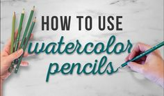 How To Use Watercolor Pencils, TIPS FOR BEGINNERS is part of Different drawings Techniques Videos - Video by HulloAlice How to use watercolor pencils, or, how HulloAlice uses watercolor pencils! I hope you guys find this tutorial helpful and share it wit Watercolor Pencils Techniques, Watercolor Pencil Art, Colored Pencil Techniques, Pencil Painting, Easy Watercolor, Watercolour Tutorials, Watercolor Paintings, Tattoo Watercolor, Watercolor Animals