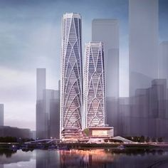 Currently under construction, CITIC Financial Center creates two iconic, structurally expressive towers that incorporate the world's most advanced engineering approaches to design.The multiphase project is located in the Shenzhen Bay Super Headquarter