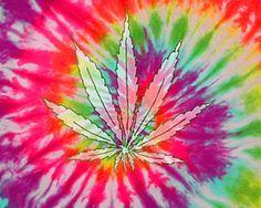 Tie Dye Weed Smoke Wallpaper