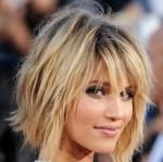 Dianna Agron Messy bob Hairstyle For Party hair look