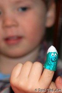 A cheeky Smurf Fingerpuppet! Can you guess what it is made of?!