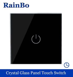 17.59$  Watch here - http://ali1m8.shopchina.info/go.php?t=32581122523 - Touch Switch Screen Crystal Glass Panel Switch EU  Switch 110~250V Wall Light Switch  1 way Black for LED Lamp rainbo A1911DSB 17.59$ #buyonlinewebsite