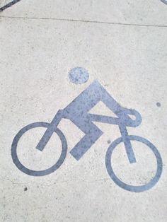 Un ciclista sin cabeza