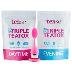 Tease Tea Organic Detox Treatment – 30 Day Triple Teatox Cleanse and Detox Kit 28 Day Detox, Detox Kit, Cleanse Detox, Weight Loss Tea, Weight Loss Detox, Herbal Detox, Herbal Tea, Burn Calories Fast, Detox Organics