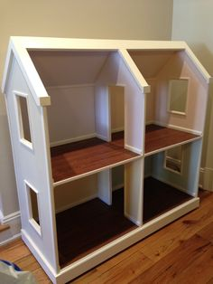 4 Room dollhouse for American Girl Dolls!  It is on caster and can roll anywhere you like!