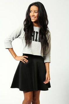 Jessica Scuba Skater Skirt at boohoo.com