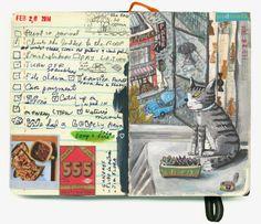 Cat on a rainy day   shoulda-woulda-coulda sketchbook
