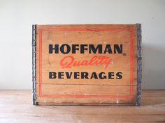 Vintage Hoffman Beverage Wood Crate.
