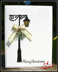 Another new product from the 2107 Holiday catalog. Christmas Lamppost Thinlits.  There is a coordinating stamp set called Brightly Lit...