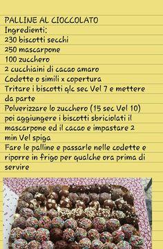 Tartufini ai biscotti e mascarpone Biscotti, Easy Sweets, Oreos, Cake Cookies, Truffles, Italian Recipes, Nutella, Food To Make, Raspberry